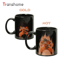 Transhome Color Changing Mug Heat Reactive Ceraimc Dragon Ball Z Coffee Mug SON Goku Super Saiyan Chameleon Magical Mug For Gift