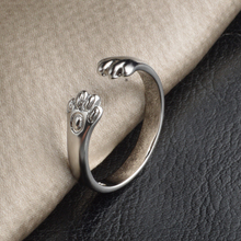 JEXXI Pretty Cat Claws Design Rings For Girlfriend/Children Cute Animal Silver Ring Party Accessories Wholesale Hot Sale(China)