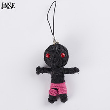 JINSE Deadpool Voodoo Keychain Handmade String Doll Pure Handcraft Cartoons Toy Strap As Mobile Pendant Keyring Kids Gift 5PCS