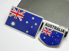 BBQ@FUKA Australian Banner Flag Metal  Australia National Flag Car Decal Sticker Fit for VW GTI  Polo Skoda Yeti