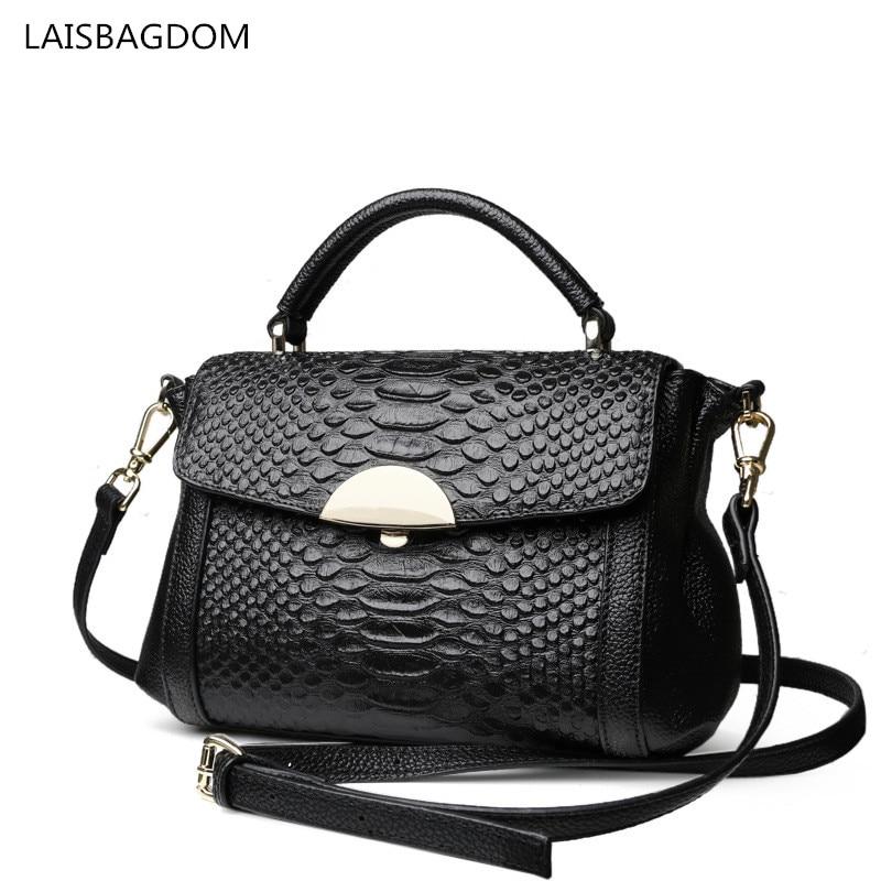 2018 Fashion Genuine Leather Handbags Alligator Women Messenger Bag Real Cowhide Leather Shoulder Crossbody Bag<br>