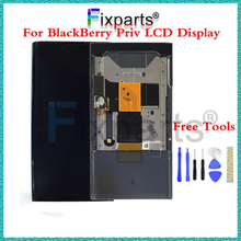 "100% New Tested 5.4"" LCD Display + For BlackBerry Priv Touch Screen Digitizer Assembly With Frame+Slider Replacement Parts(China)"