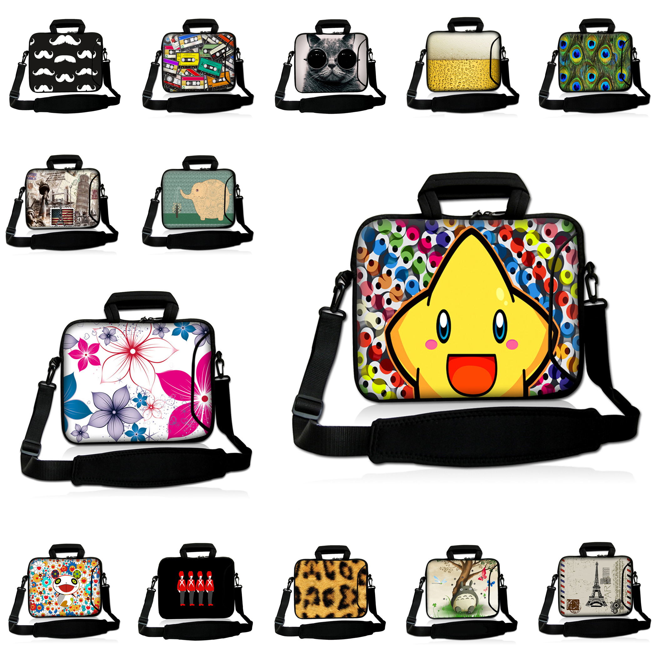 2017 Universal 10 12 13 14 15 15.4 15.6 17 17.3 Laptop Messenger Carry Bag Zippers Computer Shoulder Strap Bag Cases Cover Pouch<br><br>Aliexpress