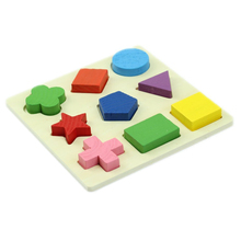 Colored Baby Kids Wooden Cognitive boards Cognitive Learning Educational Toys Geometry Block Toys