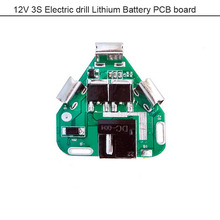 Electric tool Lithium Battery li-ion electric screwdriver 12V PCB board for 3S 12.6V 18650 power battery  with DC connector
