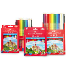 FABER CASTELL classic oily color pencil 36/48/72 color red box color pencil drawing pen Castle(China)