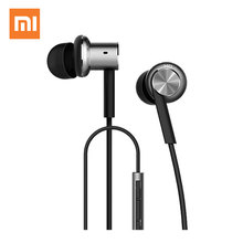 Original Mi Xiaomi Hybrid Earphone In-Ear 3.5mm Stereo Earphones With Mic Earphone Silver Gold For Android iOS For MP3 PC(China)