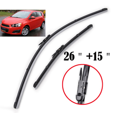 Misima Windshield Windscreen Wiper Blades For Chevrolet Aveo T300 Front Window Wiper For Chevrolet Sonic 2012 2013 2014 2015(China)