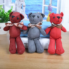 Teddy bear bag mobile phone car ornaments plush toys pendant(China)
