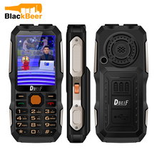 DBEIF D2016 Flashlight Seniors Old Man Button Key Shockproof MP3/MP4 Powerbank Magic Voice Antenna Analog TV Rugged Mobile Phone(China)