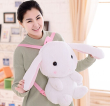 Candice guo! super Q plush toy Amuse Lolita Loppy rabbit long ear bunny doll backpack shoulder bag birthday gift 1pc