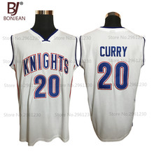 Mens and Kids Cheap Stephen Curry 20 Charlotte Christian Knights High School Basketball Jersey Stitched White Throwback Jerseys