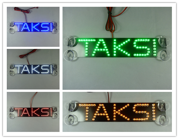 TAXI TAKSI Indonesia LED Brake Light Car Logo Light Additional Letter Brake Lights Suction Cup LED Refit Car Light car-styling<br><br>Aliexpress