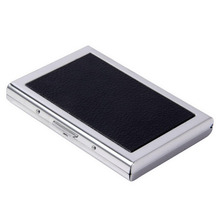 Waterproof Aluminum Pocket Wallet Business Credit Card Portable Holder Case Black ID Credit Card Mini Wallet Holder(China)