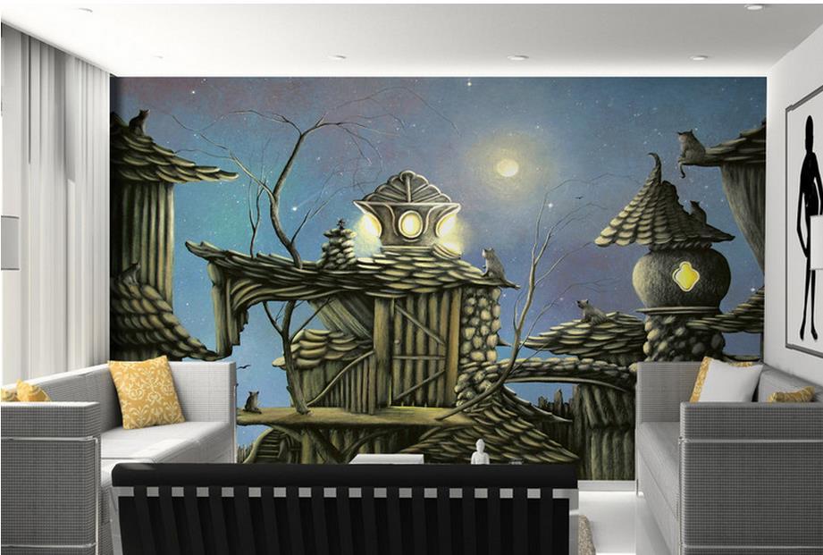 3d murals wallpaper customized 3d photo wall mural Chalet children desktop wallpaper luxury 3d stereoscopic wallpaper<br><br>Aliexpress