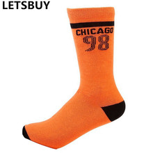 USA sports tide mens basketball socks male female cotton chicago sox number 98 socks free shipping