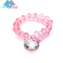 Austrian Crystal Cute Lovely Cat Hello Kitty Bracelets & Bangles Fashion Jewelry for women Q2017225