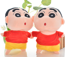 Plush pendant doll 2pcs 22cm little boy Crayon Shin-chan cute game car decoration wedding gift stuffed toy prize wholesale