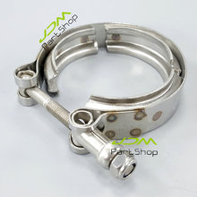 "New 2.5"" Inch 64mm Turbocharger Exhaust Down Pipe Stainless Steel SS304 V-Band V band Vband Clamp"
