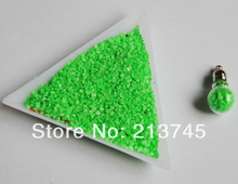 Freeshipping Charn Green dust Stone filler Decorate Fill the Miniature for Glass globe bubble Vial Pandent/ perfume Bottle