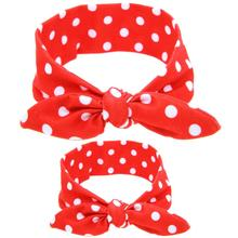 Parent-child Hair Band DIY Rabbit High Elastic Ears Headband Bronzing Dot Grid Family Fitted Hair Accessories #2415