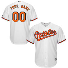 MLB Youth Baltimore Orioles Baseball White Home Custom Cool Base Jersey(China)