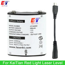 Kaitian 3.7V 800mAh Rechargeable Lithium Battery for Cross Line Laser Level 635nm Vertical & Horizontal Lasers(China)