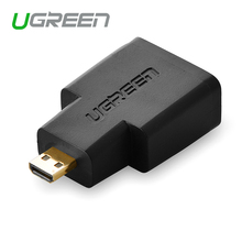 Ugreen HDMI Female to Micro HDMI to HDMI Adapter cable Converter gold plated connector HD TV Camera hdmi adapter