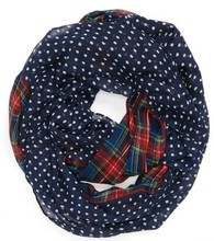 2017 New Fashion Women/Ladies Navy /Red/Beige/Green Color Dotted and Plaid Check Infinity Shawls Scarf Snood Loop Scarves(China)