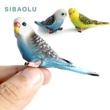 Kawaii Simulation Forest Parrot Figures Miniature Animal Model bird Figurine fairy PVC Plastic craft Decoration Zoo statue toys(China)