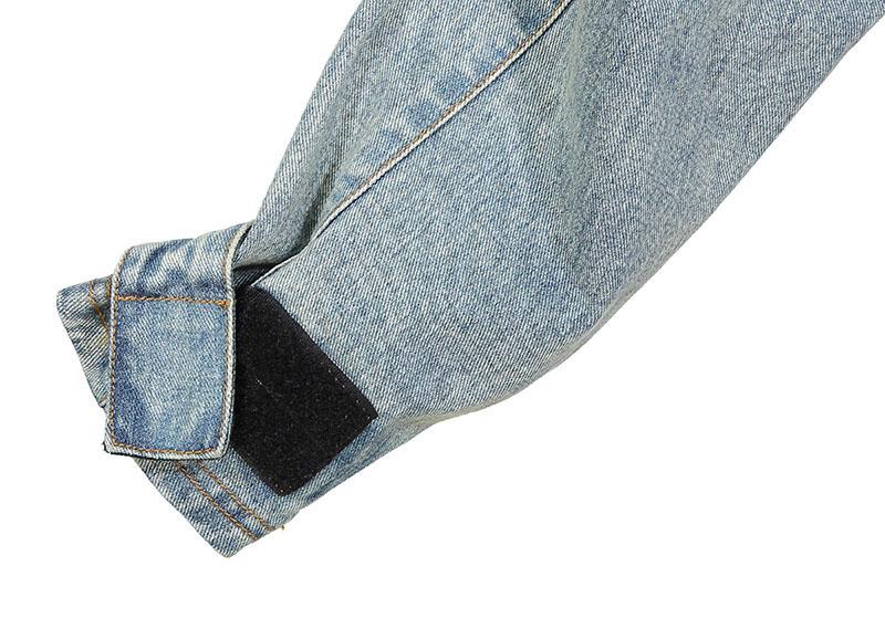 Aolamegs Denim Jacket Men Hanging Shoulder OVERSIZE Cowboy Casual Men's Jacket High Street Fashion Stand Collar Outwear Men Coat (12)