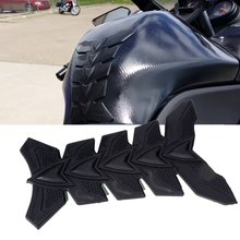 Motorcycle 3D Black Rubber Pattern Tank Protector Cover Pad for Kawasaki NINJA ZX12R ZXR250 ZZR400 ER6N ZZR600 3M Stickers