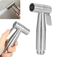 Stainless Steel Hand Held Shattaf Toilet Bidet Bathroom Shower Head Sprayer Tool for Bathroom Clean Hand Hold Bidet(China)