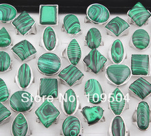 New Arrival Green Natural Stone Ring Jewelry Malachite Stone Ring for Women Mothers Day Gift Free Shipping ZR14