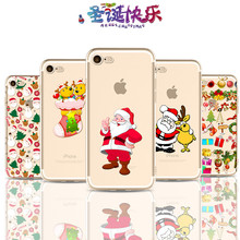 IMIDO 8 Phone Cases Funny Christmas Cell Phone Cases 6s 7Plus Case TPU Slim Ultra Thin Sofe Phone Cover Case For iPhone X(China)