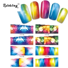 2017 New Arrival Different And Colorful Bubble Series Water Transfer Nail Ssticker Fingernail Decorations Paper Transfer
