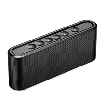 MoreBlue X-6 Metal Touch Wireless Bluetooth V4.2 Speaker 2200mAh Portable Outdoor HIFI Stereo Bass Speakers With FM Radio(China)