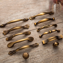 Yellow Bronze Small Handle and Pulls Antique Classic Vintage Furniture Cabinet Door Wardrobe Drawers Knobs Kitchen Bookcase knob