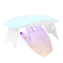 6W USB Mini LED UV Nail Gel Curing Lamp Light Nail Gel Polish Dryer Nail Art F1107(China)