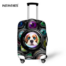 "INSTANTARTS Cute 3D Dog Print Luggage Protective Cover Apply to 18-30"" Case Waterproof Travel Accessories Elastic Luggage Covers"