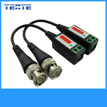 TEATE Twisted CCTV UTP Video Balun Passive Transceivers Max Distance 2000FT UTP Balun BNC Cable Cat5 CCTV Video Balun TET-G03CAB