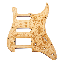 SSH Wooden Guitar Pickguard Maple Wood with Decorative Flower Pattern for Electric Guitars(China)