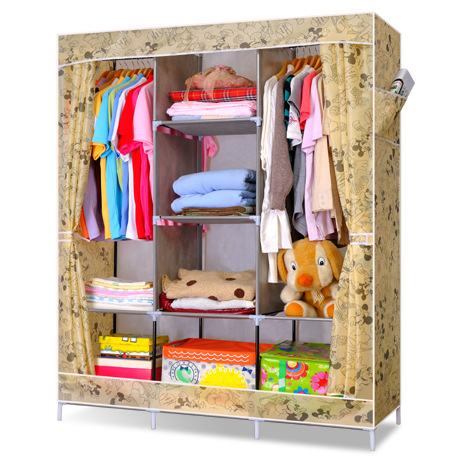 170X130X45CM GY-28 Oxford Cloth DIY Wardrobe Light Combination Wardrobe Can Carry  Household items Hang Clothes<br>