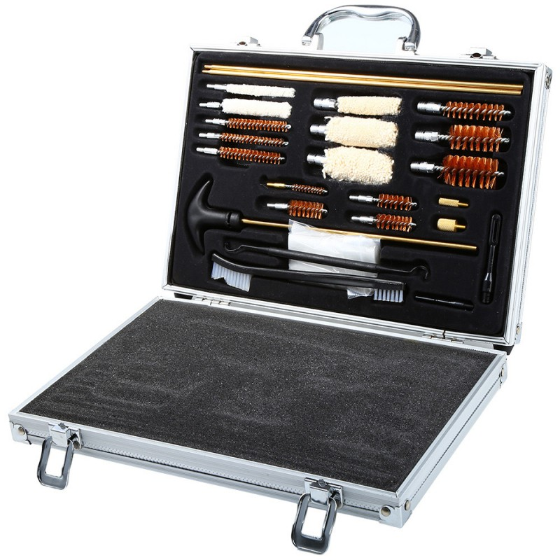 High Quality 74PCS Universal Hunting Hand Shot Gun Clean Smith Kit Set With Case Rilfe Accessories<br><br>Aliexpress