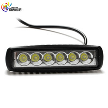 2x 6inch 18W 5D Spot LED Work Light Car Truck Boat Driving Fog Offroad SUV 4WD  Light Bar Daytime Running Light Grille light