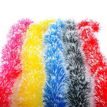 2M Christmas Party Xmas Tree Ornaments Garland Ribbon Tinsel Hanging Decorations color bar for outdoor shop 5 color supply(China)