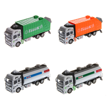 M89C1:32 Scale Collectible Alloy Plastic Pull Back Road Sprinkler Truck Car Model Toys for Kids New(China)