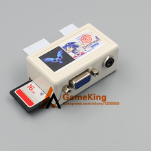 Dreamcast DC SD Card Adapter with VGA AV Audio output 3 in 1 Convertor free 16G SD card with games