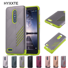 HYXXTE Hybrid Phone Cover Case for Huawei P8 Lite 2017 / ZTE ZMax Pro Carry Z981 Armor Impact Tough Shockproof Protective Shell