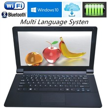 Ultraslim 11.6 inch Intel Z3735F 1.33GHZ Quad Core Laptops Computer Windows 10 J1800 J1900 Wifi WebcamTa Netbook with Free DHL(China)